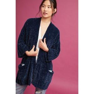NWOT Moth Lily midnight blue chenille cardigan